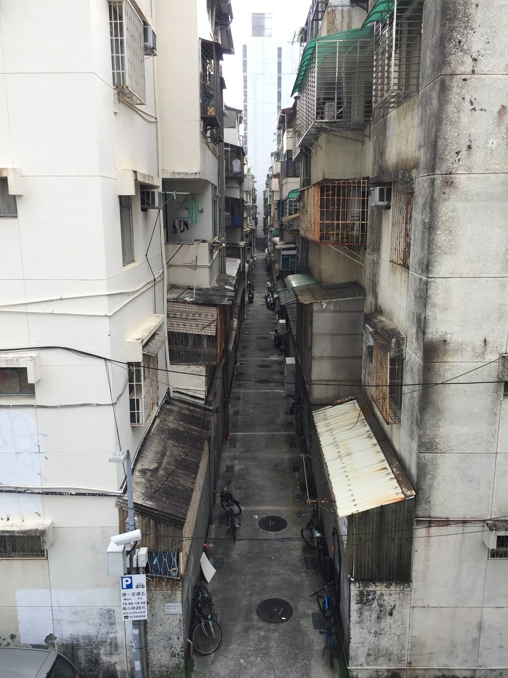 Zhongshan district, near Jiannan MRT. Nothing special. Just a normal residential Taiwanese street.
