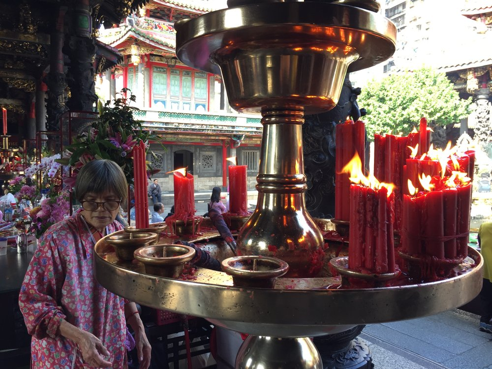 Longshan Temple, Wanhua district, Taipei, Taiwan.