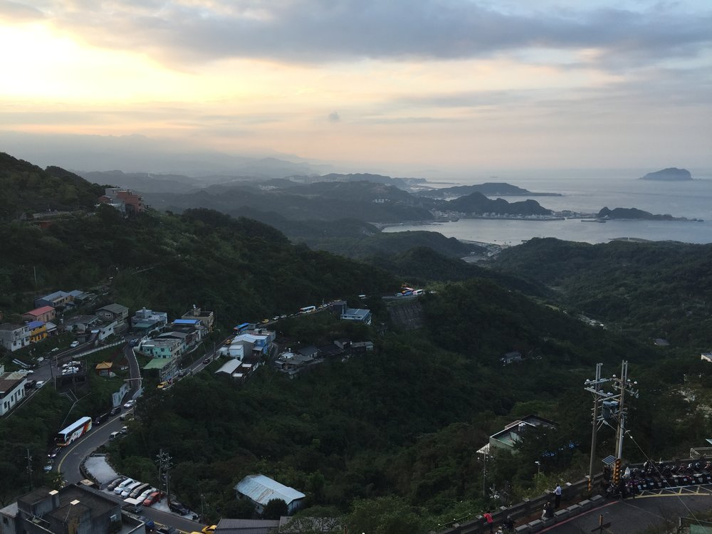 Keelung Islet, as seen from Jiufen, is just off the coast on the righthand side of the photo near the horizon. Jiufen is a messy sea of tourists but the view almost makes it worth the hassle. Taiwan is such a beautiful country.