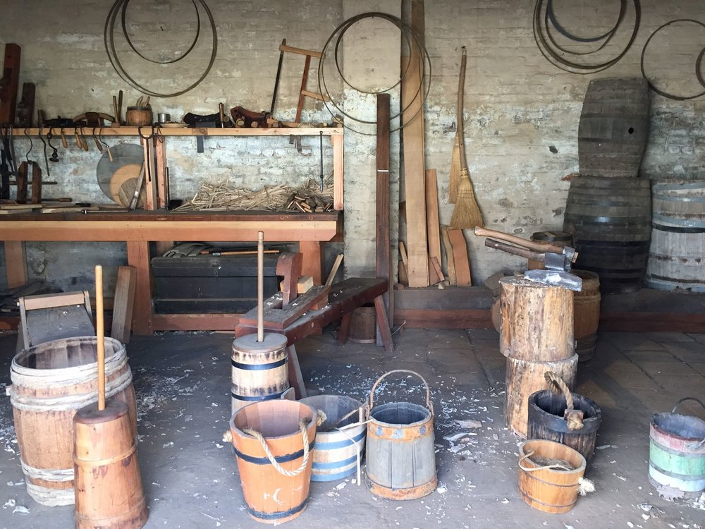 Replica workshop at Sutter's Fort.