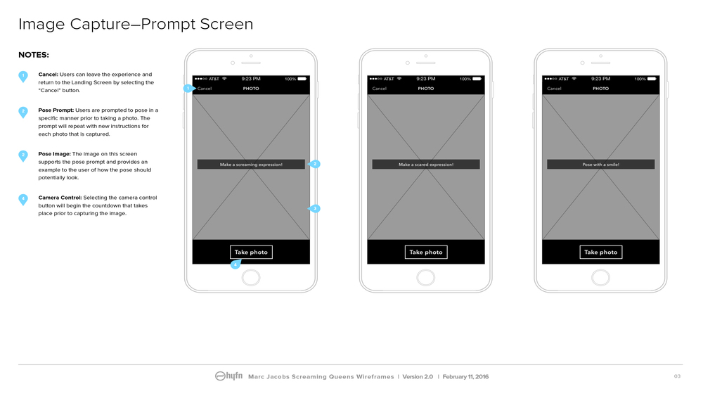 Wireframe Sample: Prompt Screen