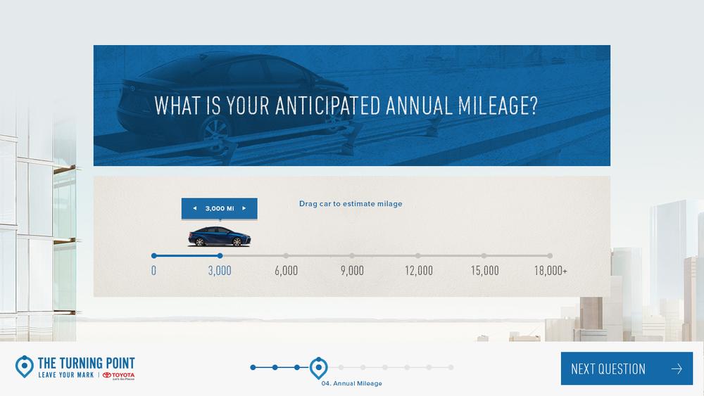 UI Design: Anticipated Mileage
