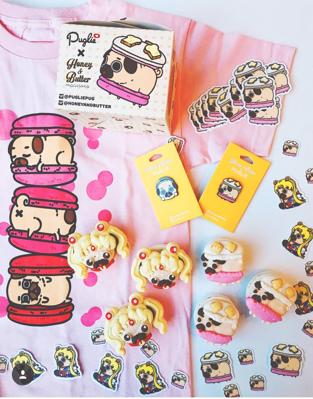 Puglie x Honey & Butter T-shirt and Pin Production Management