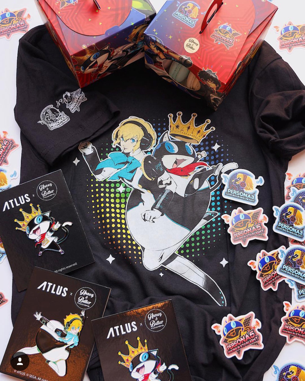 Atlus by Sega x Honey & Butter Pin + Packaging Design & Production Management