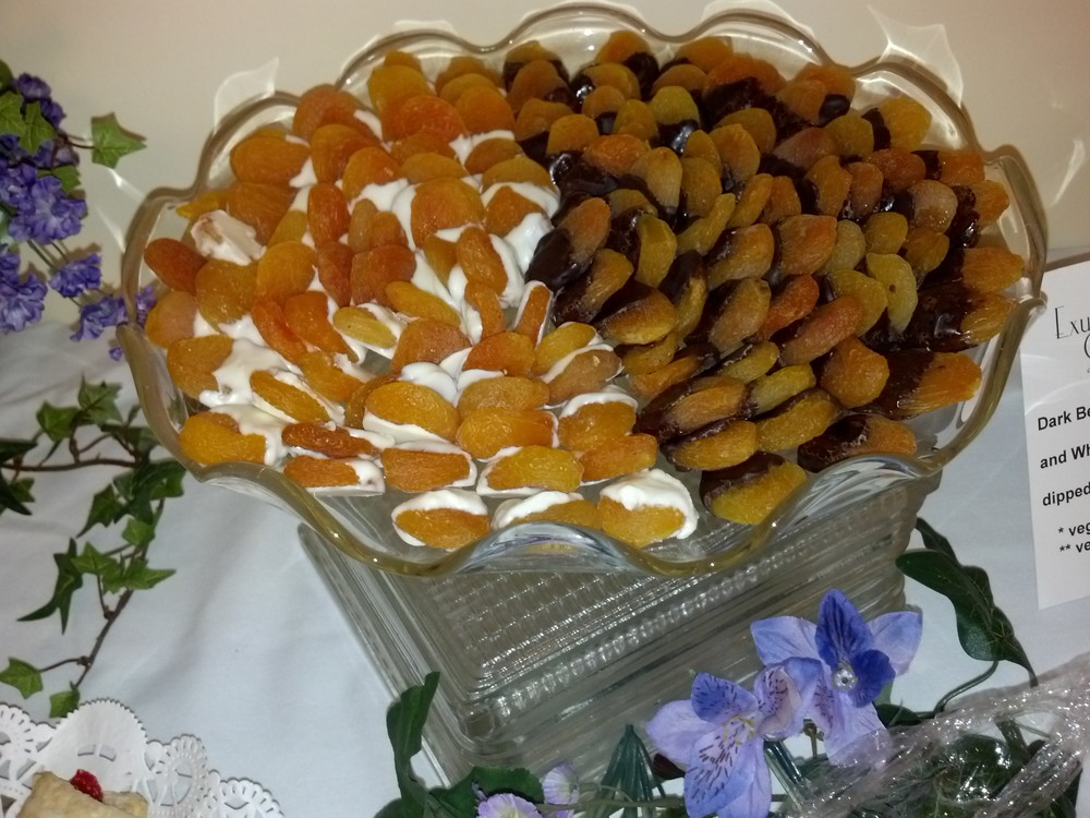 Apricots with chocolate duo
