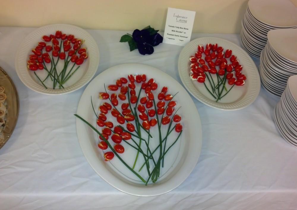 Appetizer Art - Tomato Tulips