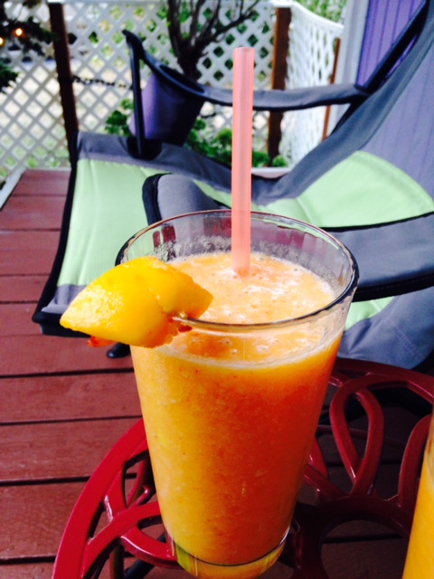 peach daquiri on the porch - pure summer!