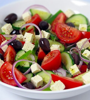 Greek salad - box lunch entree salad