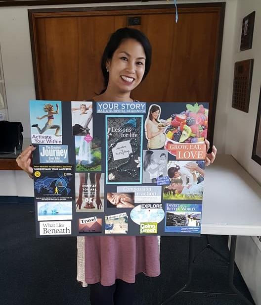 I've been to 2 of Christina's Vision Board Workshops! -