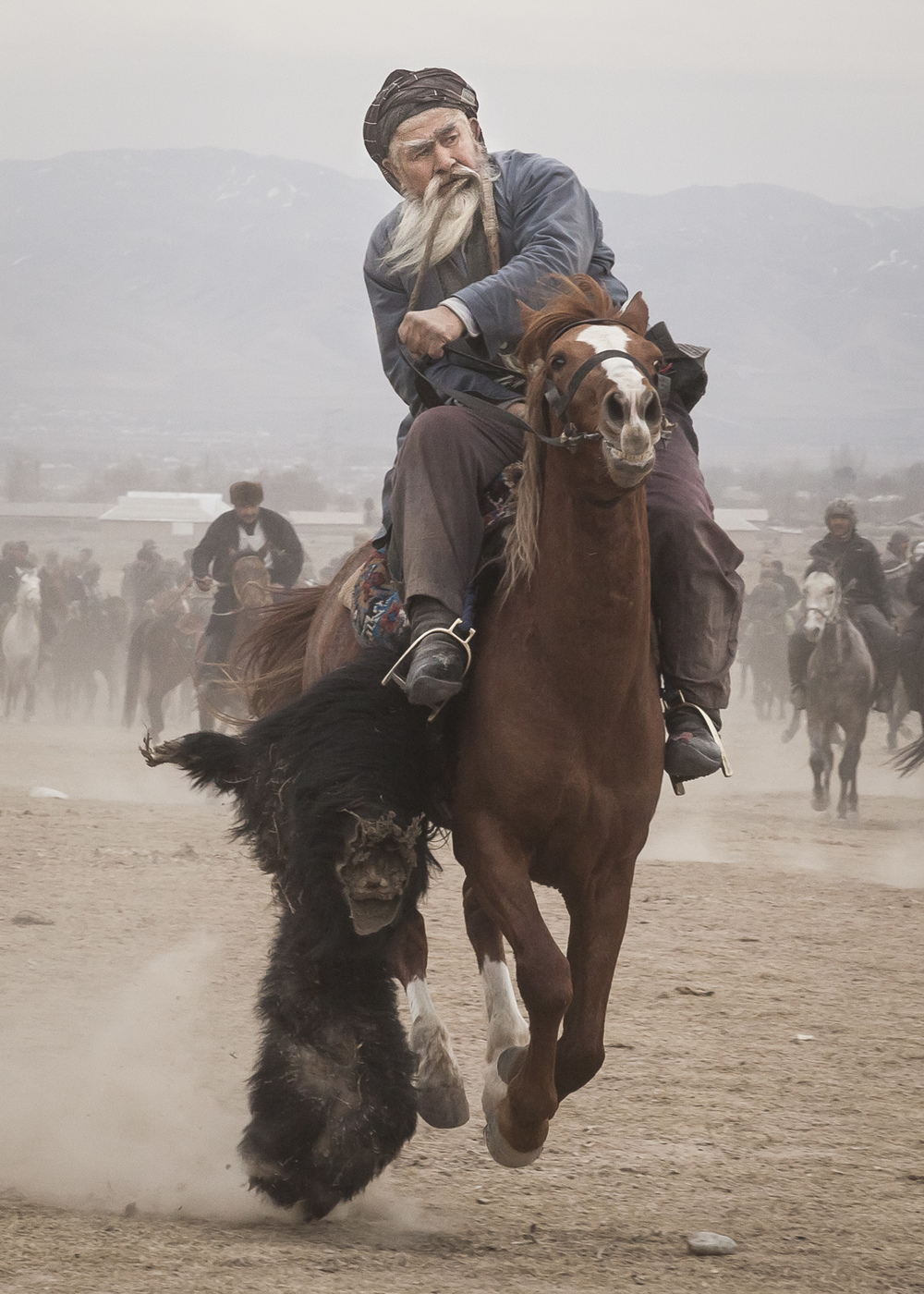 Hajji Nasriddin, Soviet era national Buzkashi champion. Published in Le Figaro Magazine