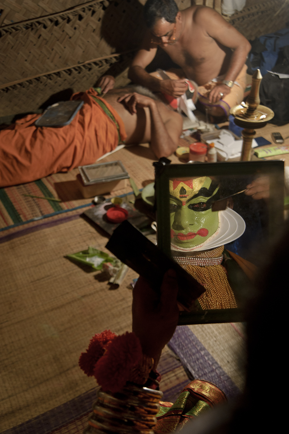 Costumes, make-up and music from Theyyam have all influenced Kathakali, one of India's classical forms of dance.