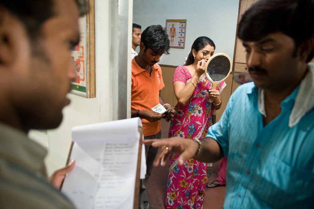On the set of a Tamil soap opera. Some of the best TV stars move into cinema and politics.