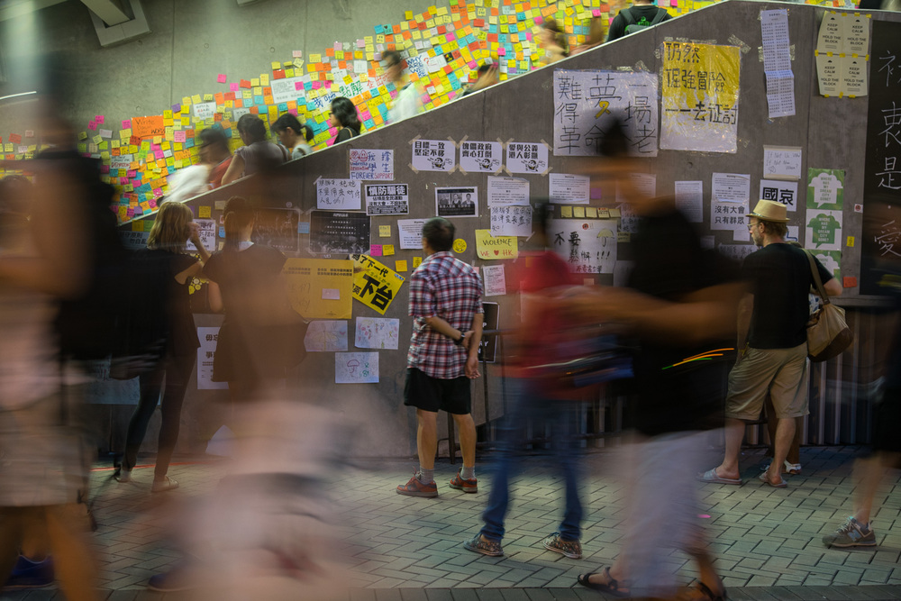 Occupy Central, Nov 2014. Hong Kong