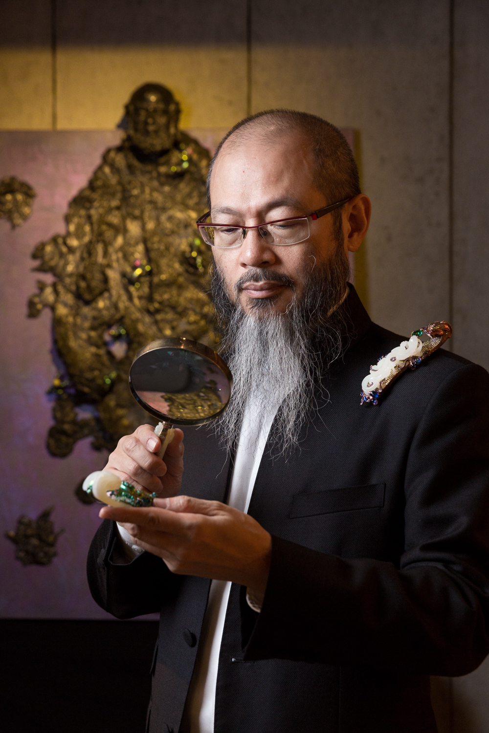 Jeweler and collector Wallace Chan for Financial Times