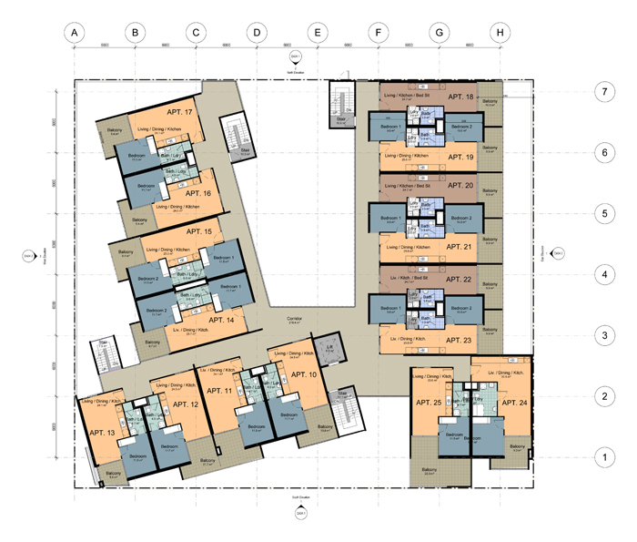 Multi generational house floor plans house plans for Multi level home designs