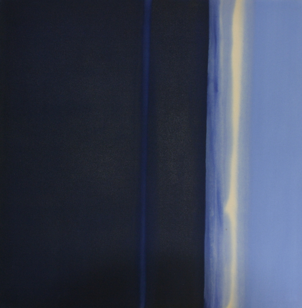Stripe Series (Blue Painting)    oil on canvas  100 cm x 100 cm
