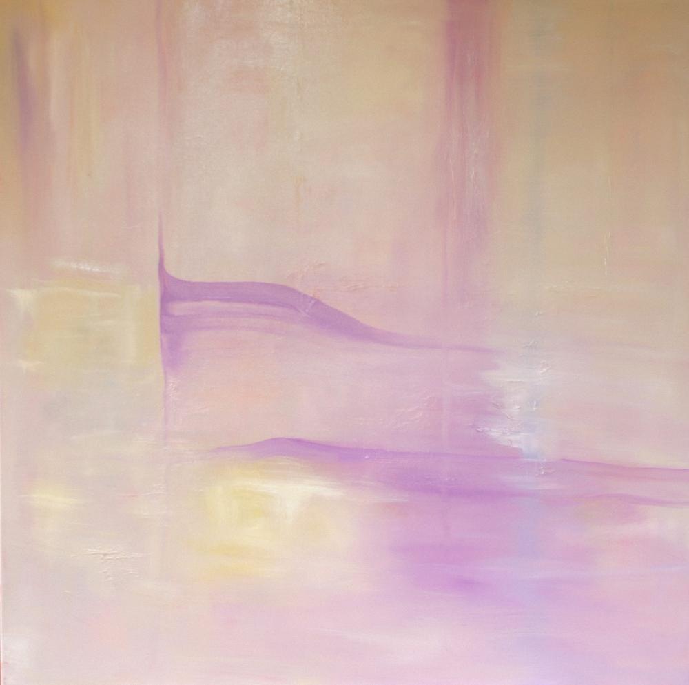 La Reflexion VENDIDO   oleo en lienzo  100cm x 100cm