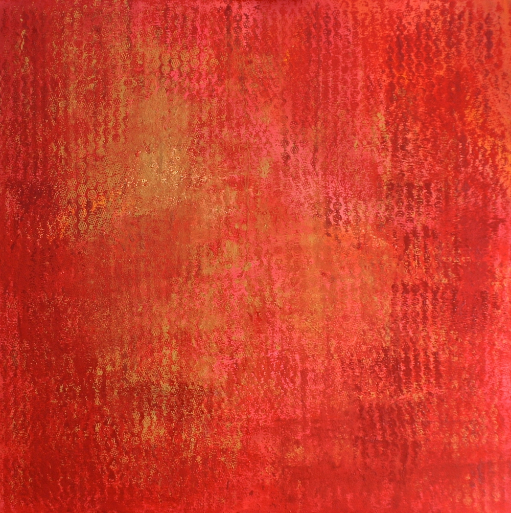 UNTITLED (RED PAINTING)    oil on canvas  100 cm x 100 cm