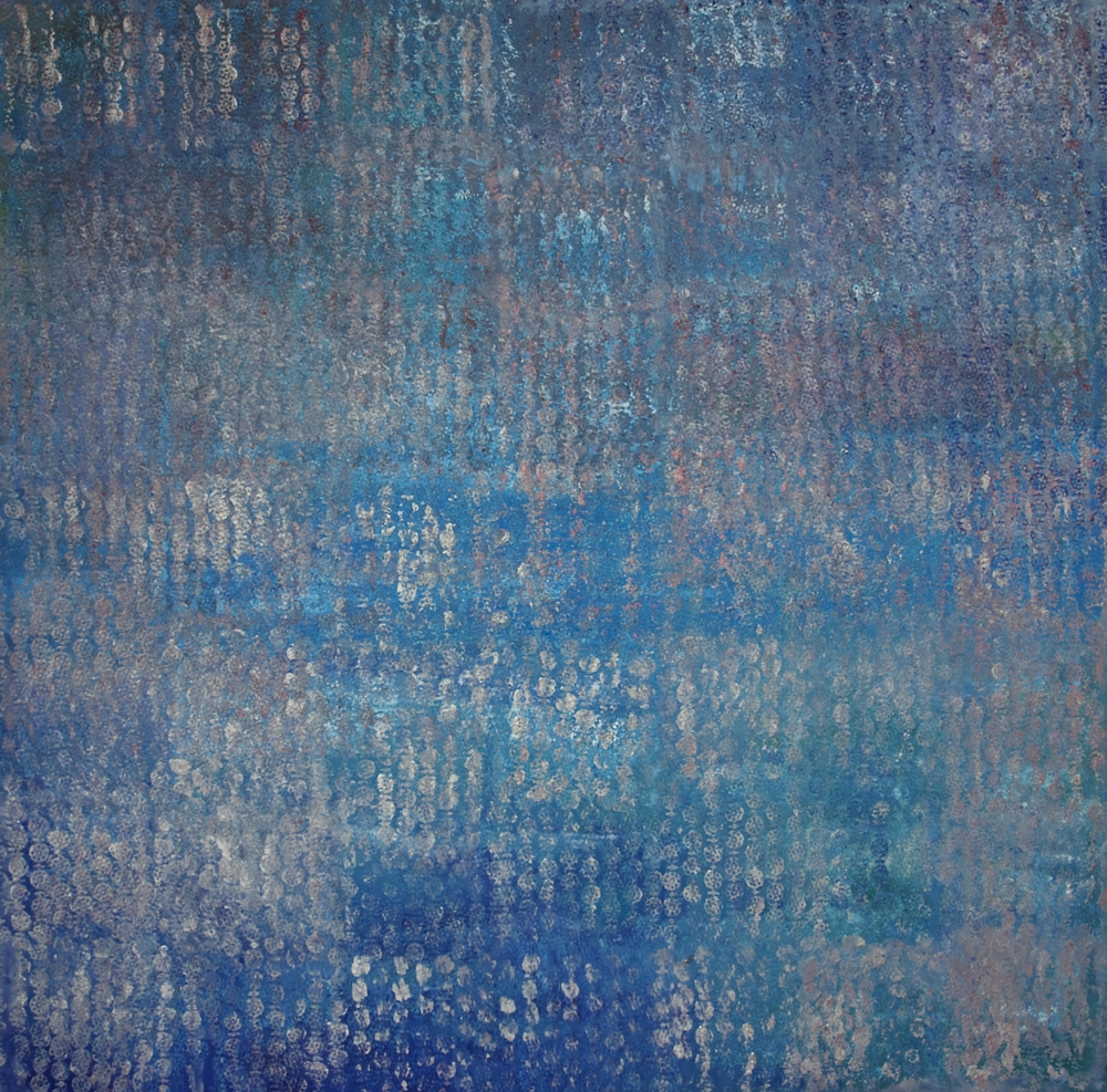 EL MAR  SOLD   oleo en lienzo  110 cm x 110 cm