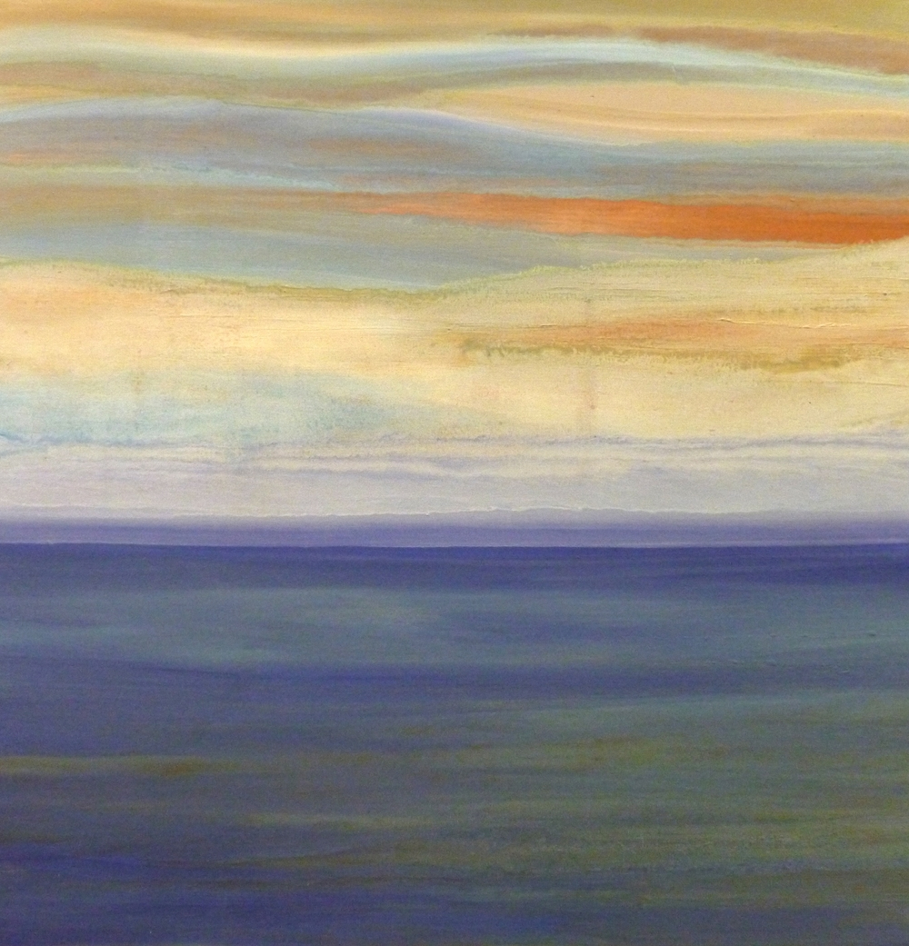 The Horizon    oil on canvas  90cmx 90cm