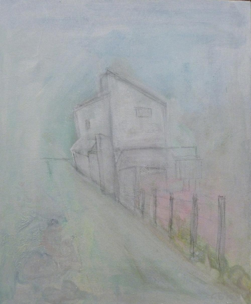 Camino de S'Arraco    acrilico en lienzo  35cm x 45cm