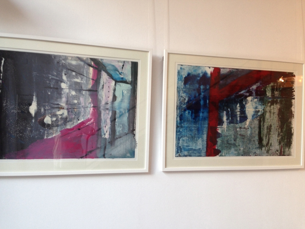 """Paris 2"" and ""Paris 3"" monoprint"