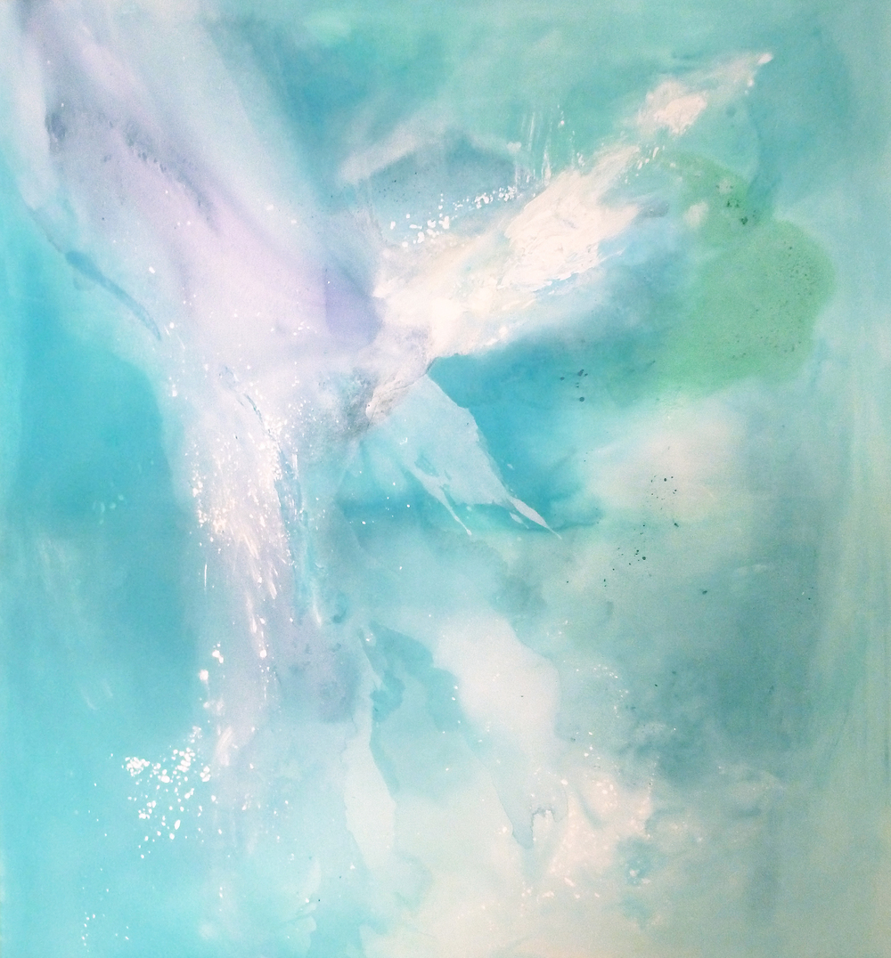 Ice Flow no. 6  Sold   acrylic on canvas  150cm x 175cm
