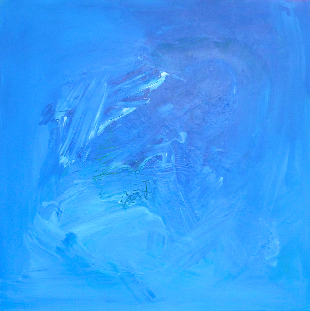 Abstract Painting (Blue) 1014  acrylic on canvas  90cm x 90cm