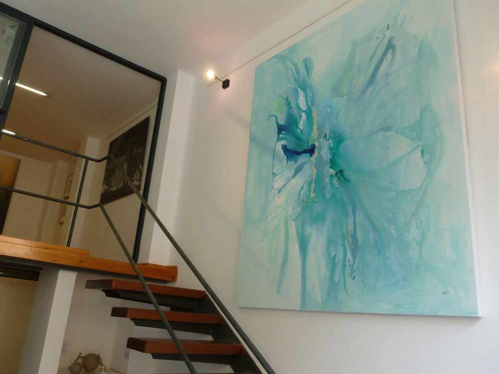 Abstract Painting (untitled)  acrylic on canvas  175cm x 210cm (sold)