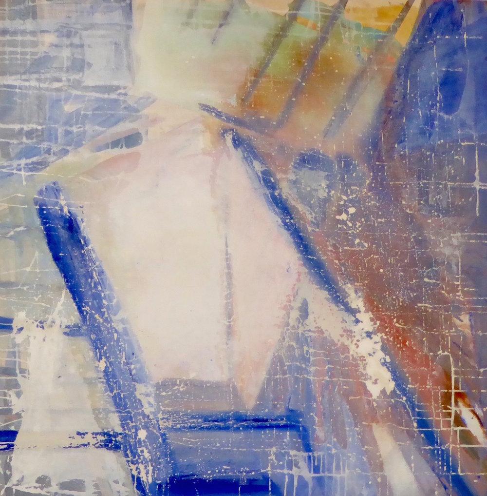 Pyramid (Cityscape Paris) SOLD  acrylic on canvas  110cm x 110cm