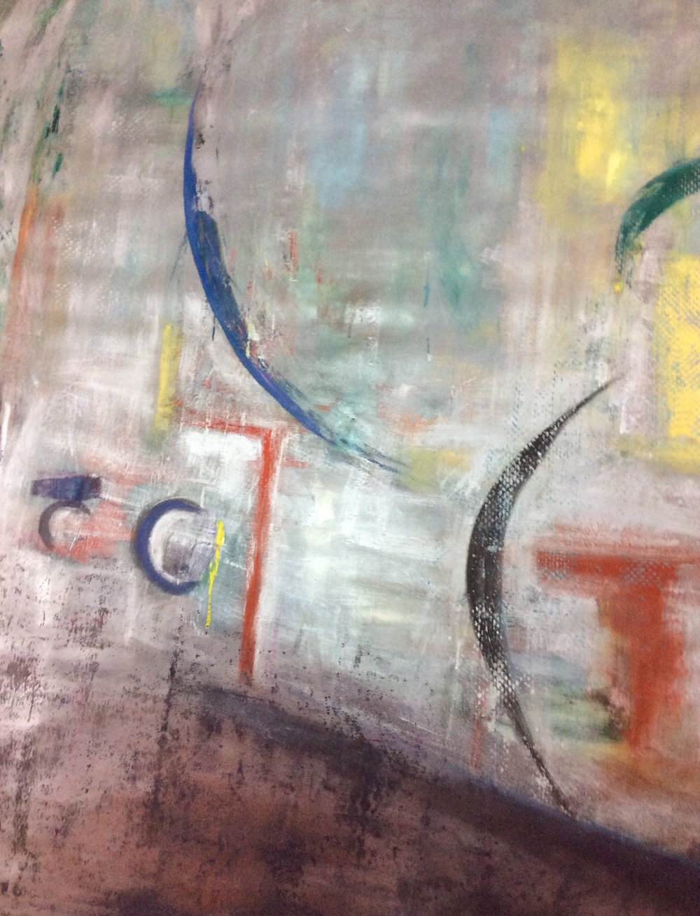 Looking Glass 2000  oil and mixed media on canvas  175cm x 210cm