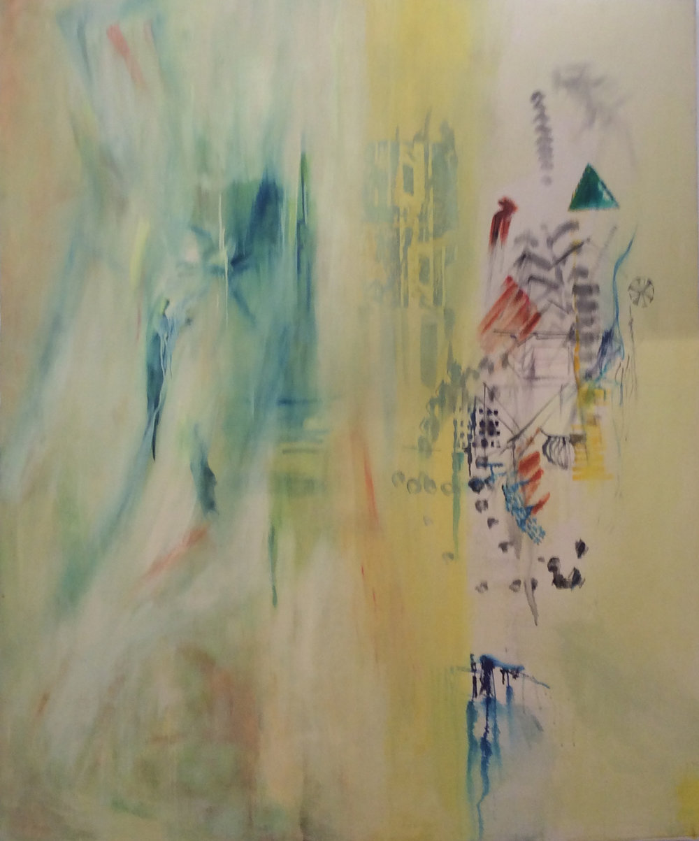 'Breaking Boundaries' (Canada)  oil on canvas 210 x 150 cm