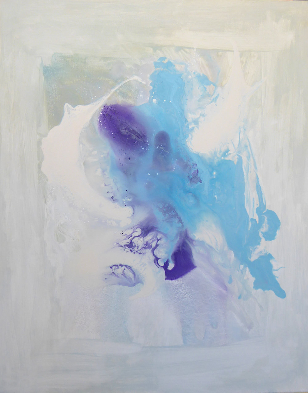 Ice Flo no. 2 (Series 2018)  acrylic on canvas 80 x 40 cm  Corinna Boughton