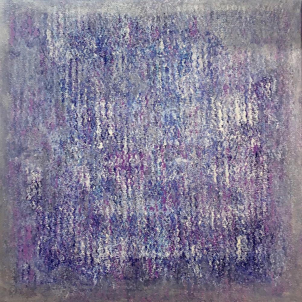 Winter seas (February)  oil on canvas 100 x 100 cm  Corinna Boughton