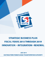 SEPTA Strategic Business Plan FY 2015 - 2019  (PDF, 1.4 MB) July 2014