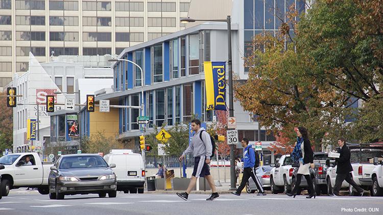 Students Walking Near Drexel
