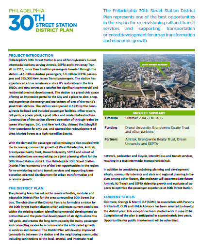 Project Fact Sheet  (PDF, 1 MB), April 2015