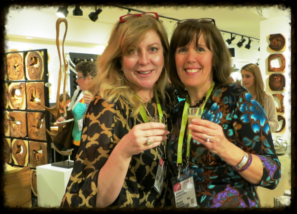 Caron and Liza enjoying mudslides at Phillips Collection Party!