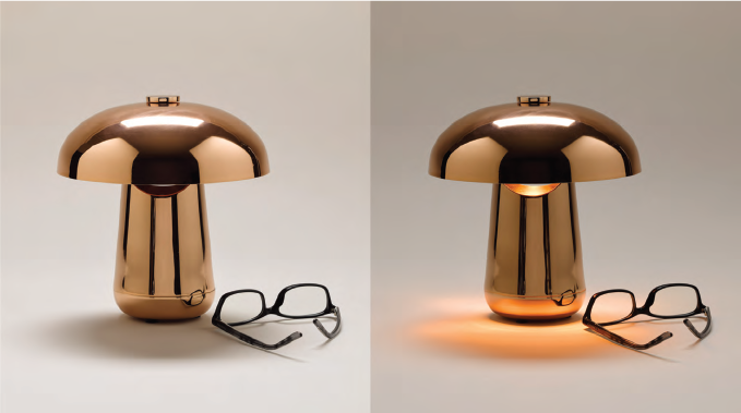 Ongo: cordless LED table lamp for tzelan & Contardi, 2015    photo: Annie Schlechter