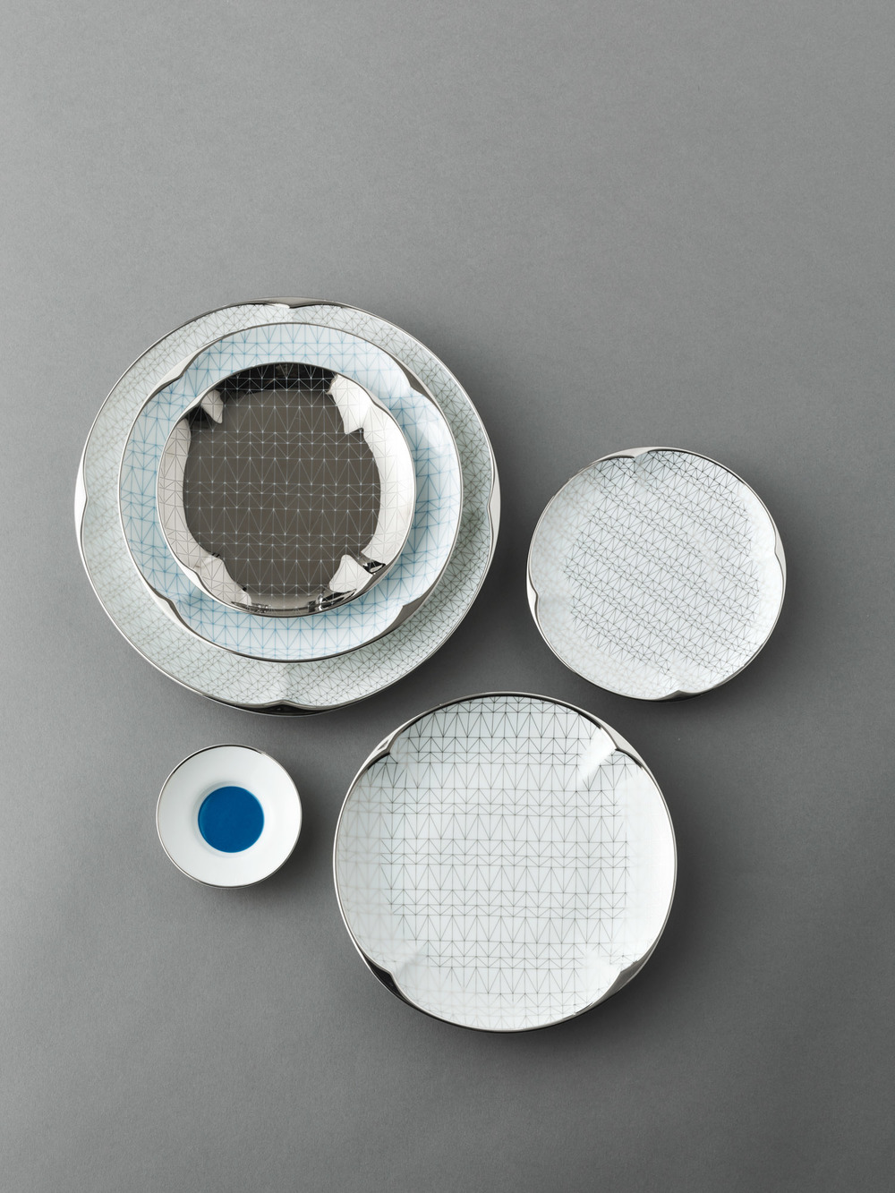 lattice dinnerware for tzelan: collaboration with Peter Ting for his Ruyi Collection, 2013