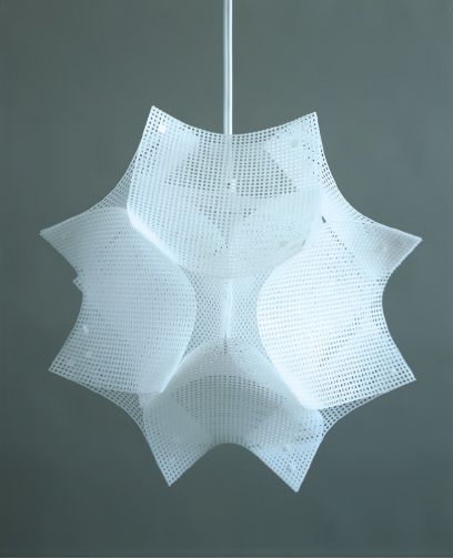 msh light pendant: experiments with mesh, 2000