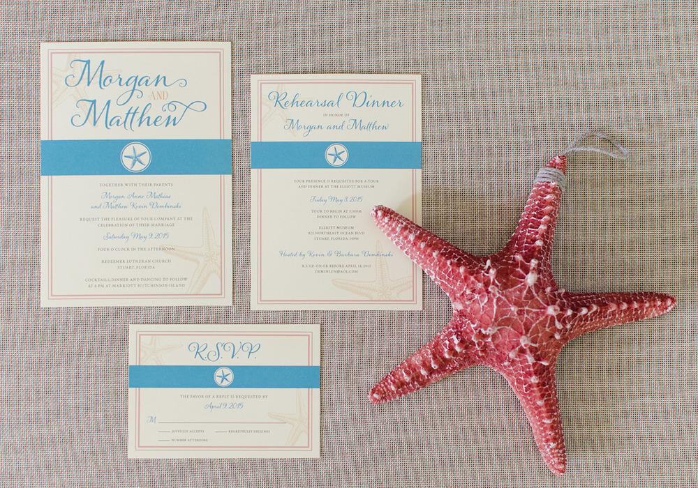 Beach Wedding Invite Suite