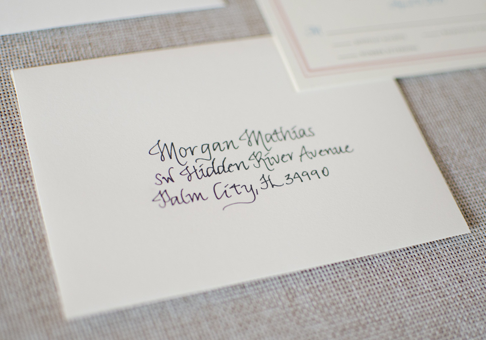 Wedding Invitations Hand-Addressed Calligraphy Envelopes