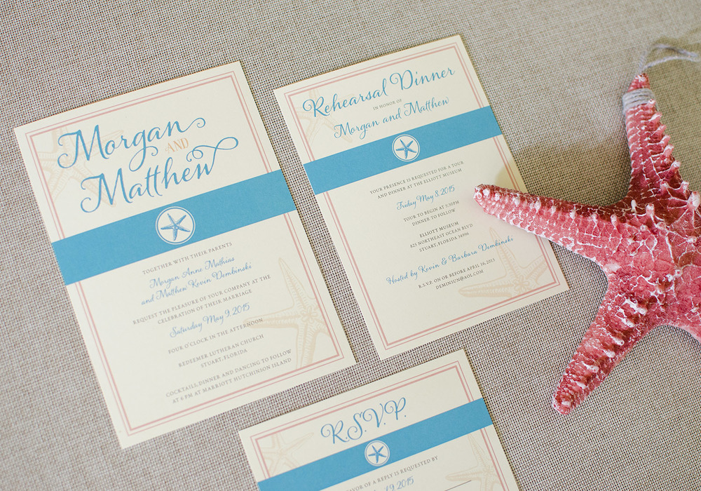 Nautical Wedding Invite, RSVP Card, Rehearsal Dinner
