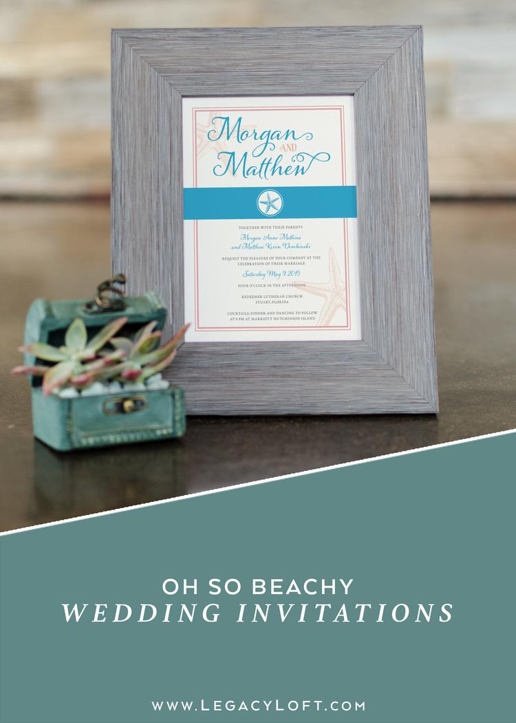 Oh So Beachy Wedding Invitations — Legacy Loft
