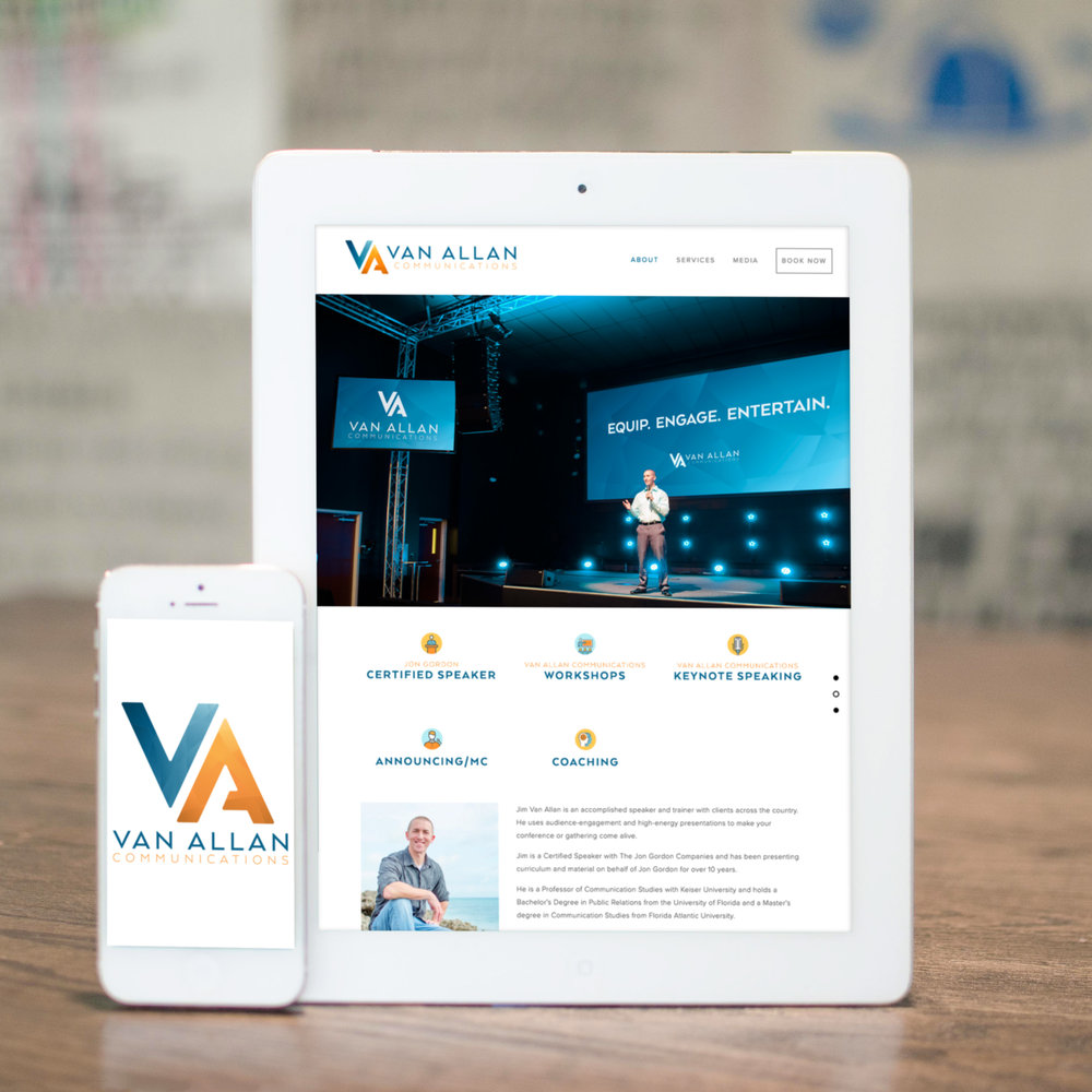 Branding & Squarespace Website Design for Communications & Speaking Coach