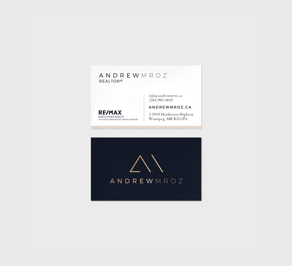 andrew-mroz-winnipeg-remax-branding-design-business-cards-clover-and-crow