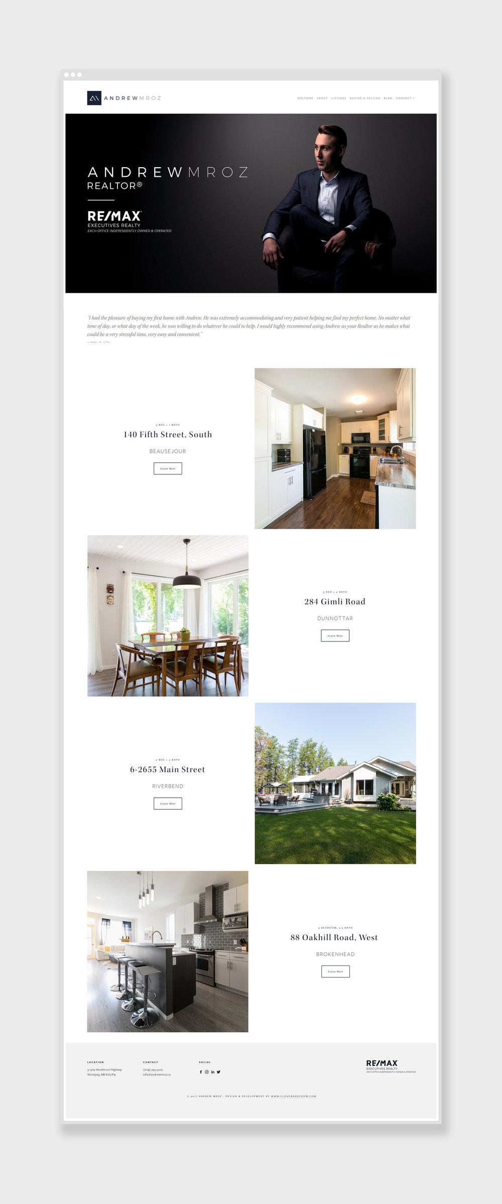 andrew-mroz-winnipeg-remax-branding-design-website-clover-and-crow