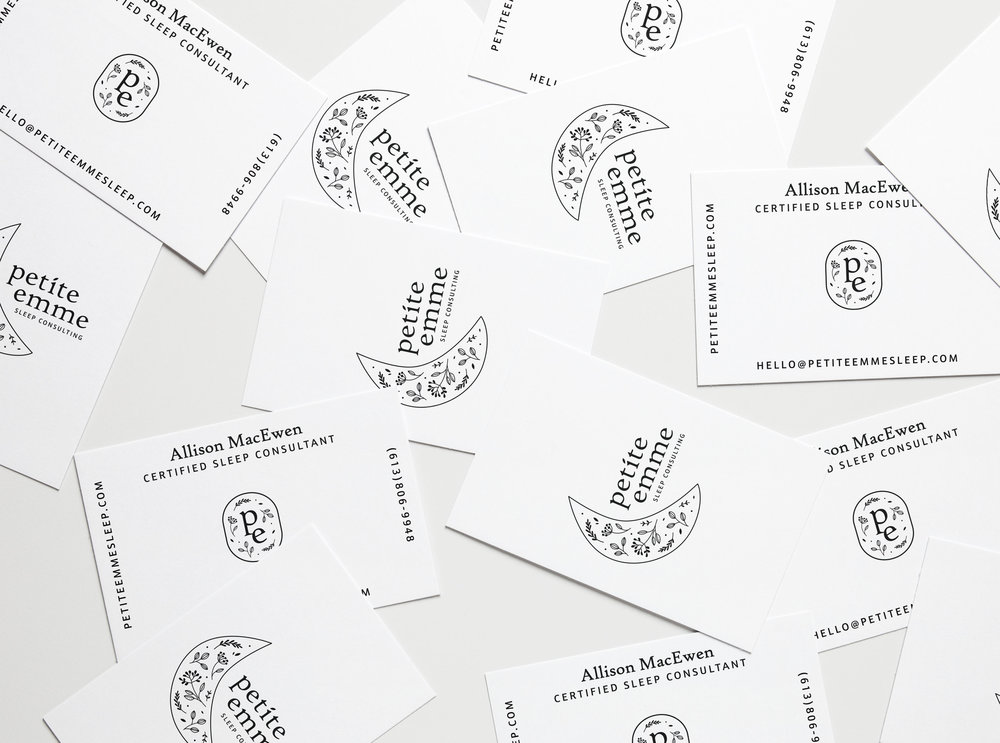 petite-emme-sleep-consulting-branding-design-business-cards-clover-and-crow