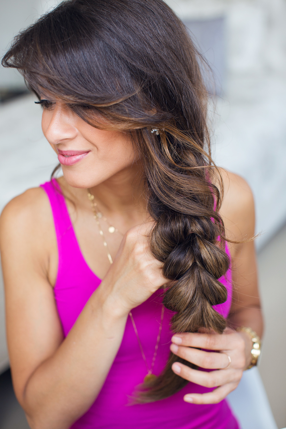 Two Strand Braid Hairstyle Luxy Hair